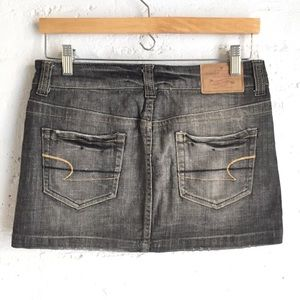 American Eagle gray denim mini skirt
